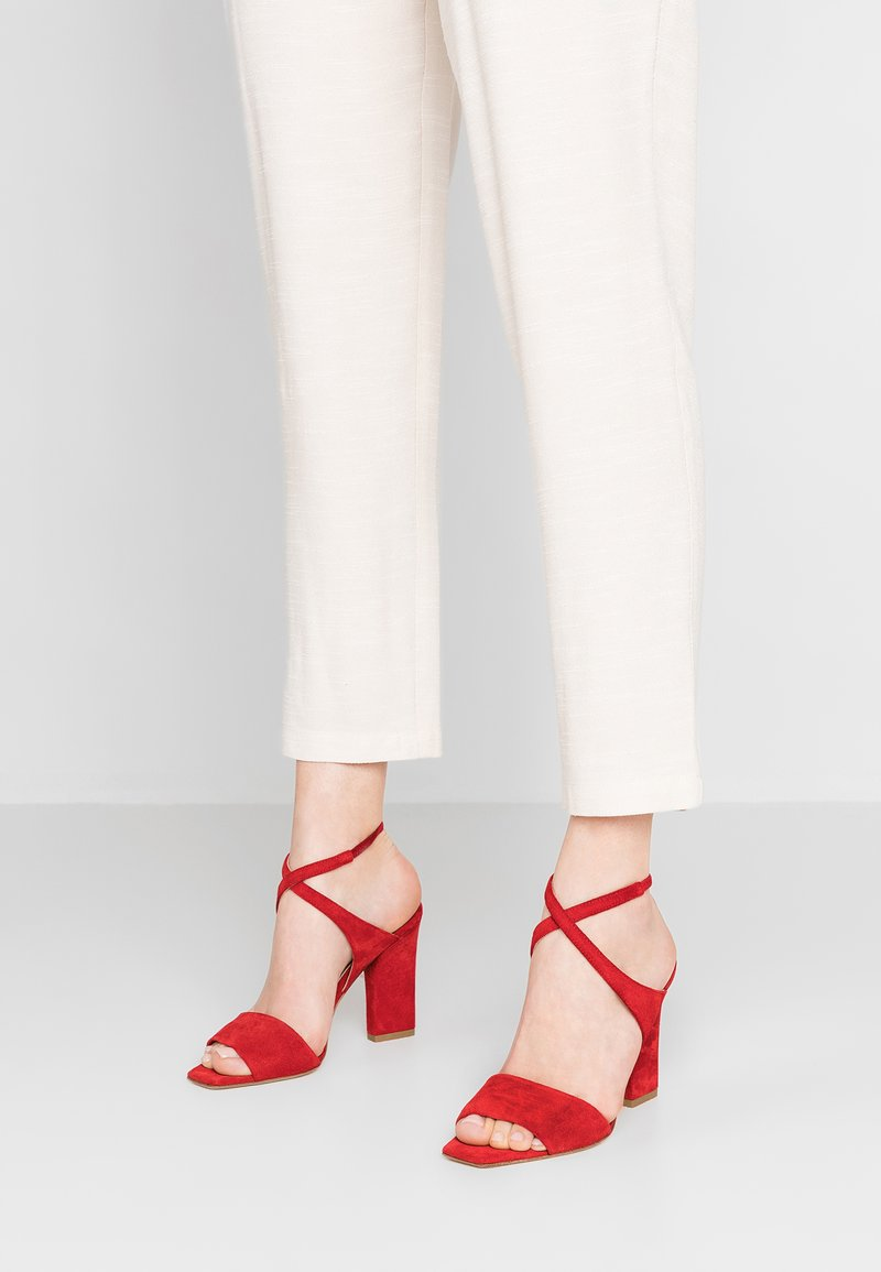 Aeyde - GABRIELLA - High heeled sandals - aeyde red