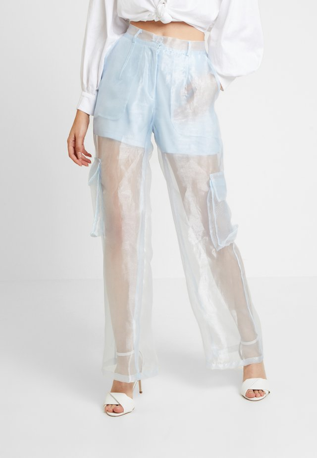 PENION TROUSERS - Stoffhose - aqua