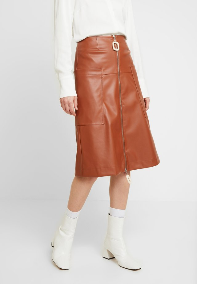LAZULI - A-lijn rok - brown
