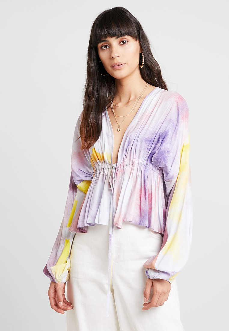 Aéryne - ELSA - Bluse - purple/yellow