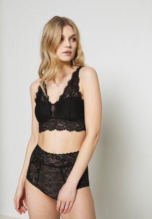 ROMANTIC PLUNGE BRALETTE PAD - Triangle bra - true black