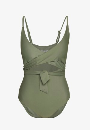 ONE PIECE WRAP SOLID - Maillot de bain - olive fun