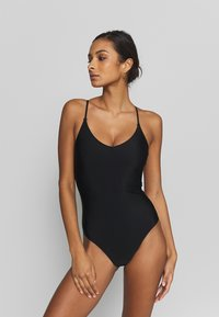 aerie - ONE PIECE STRAPPY BACK BASIC SOLID - Maillot de bain - true black - 0