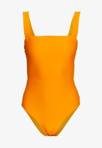 aerie - ONE PIECE CHEEKY V TIE SOLID - Badpak - mango - 4