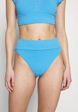 HI CUT CHEEKY PIECED - Bikini bottoms - blue