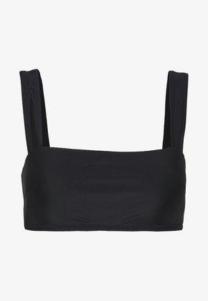 BANDEAU WIDE STRAP SOLID - Bikini top - true black