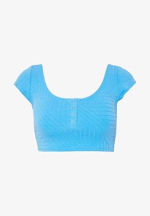 CROP SNAPS VOLLEY - Bikini top - blue