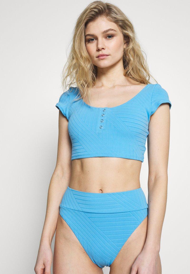 aerie - CROP SNAPS VOLLEY - Bikinitop - blue