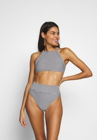 aerie - CROP BASIC FEEDER STRIPE - Bikinitop - true black - 1