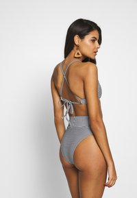 aerie - CROP BASIC FEEDER STRIPE - Bikinitop - true black - 2