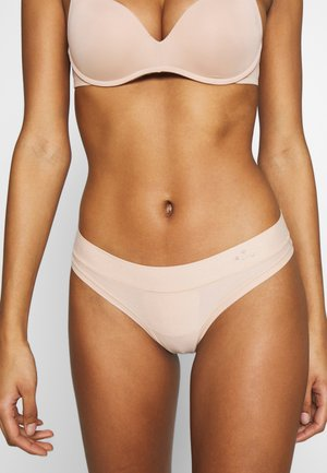 REAL ME BINDING THONG - String - natural nude