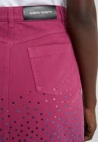 Alberta Ferretti - SKIRT - Spódnica jeansowa - fucsia - 3