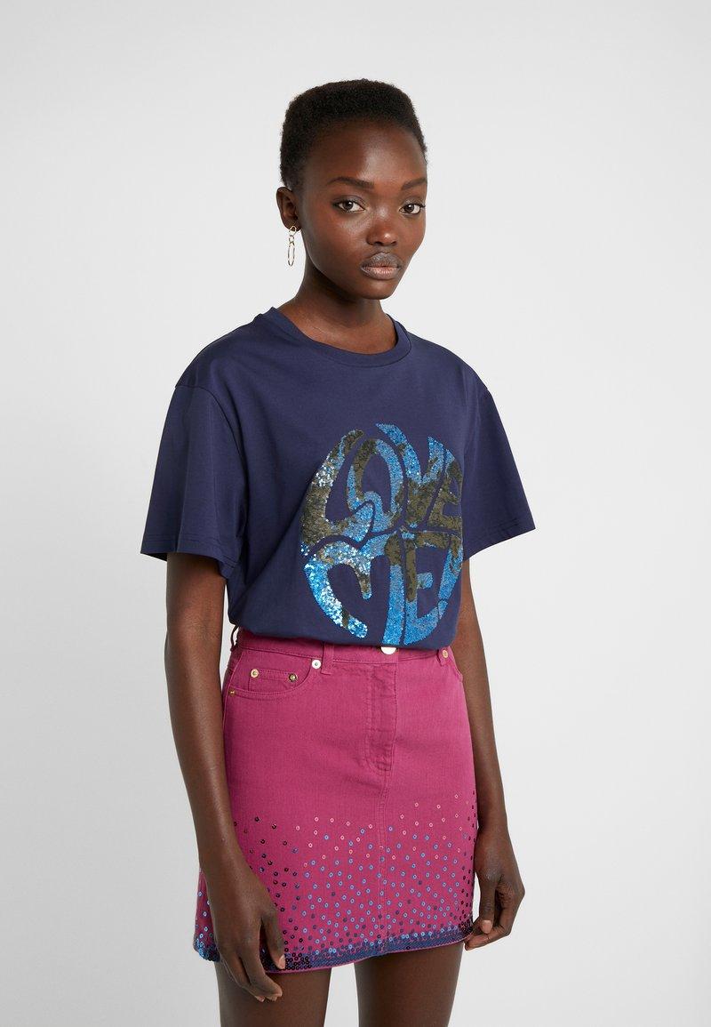 Alberta Ferretti - Print T-shirt - dark blue