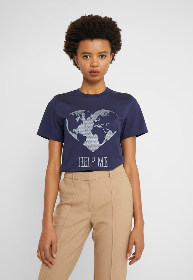 LEO - T-shirt imprimé - dark blue