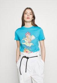 Alberta Ferretti - LEO - T-shirt z nadrukiem - blue - 0