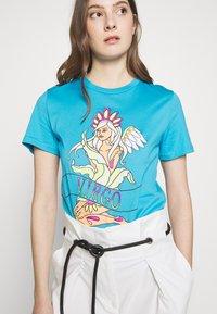 Alberta Ferretti - LEO - T-shirt z nadrukiem - blue - 3