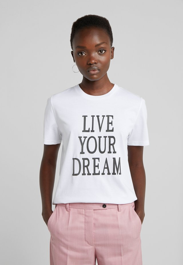 LIVE YOUR DREAM - T-shirt imprimé - white