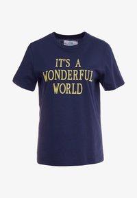 Alberta Ferretti - WONDERFUL WORLD - Print T-shirt - navy - 5