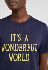 Alberta Ferretti - WONDERFUL WORLD - Print T-shirt - navy - 6