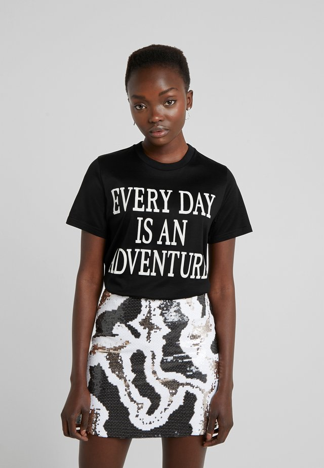 SLOGAN - T-shirt print - black