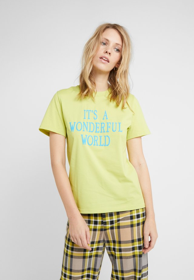 WONDERFUL - T-shirt z nadrukiem - neon green