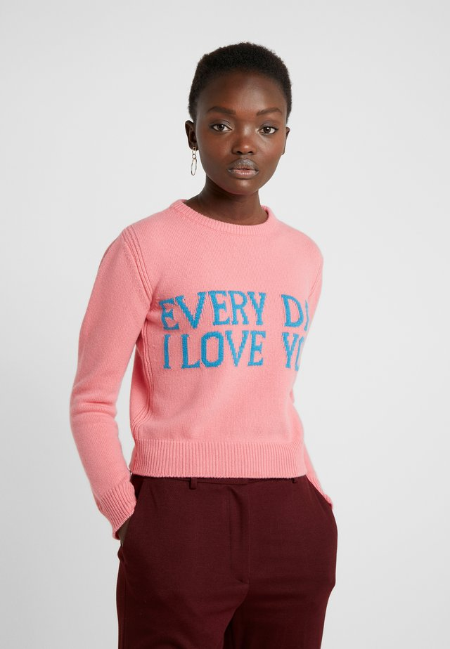 SWEATER SHORT EVERYDAY - Sweter - pink