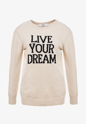 LIVE YOUR DREAM - Jumper - beige