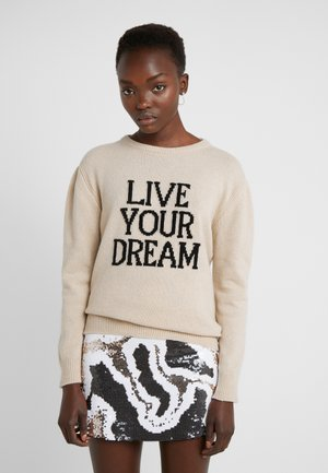 LIVE YOUR DREAM - Sweter - beige