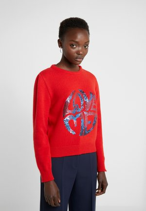 SWEATER SHORT LOVE ME - Sweter - red