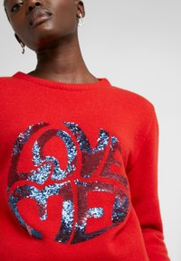 Alberta Ferretti - SWEATER SHORT LOVE ME - Svetr - red - 6