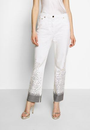 TROUSERS - Džíny Straight Fit - offwhite