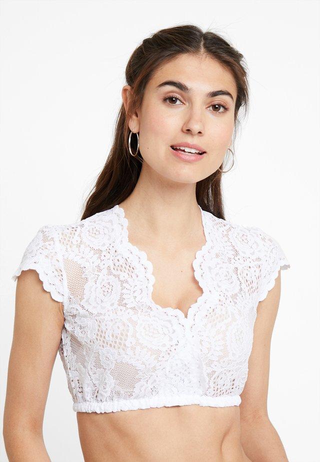 NALIA KURZARM - Bluse - weiß