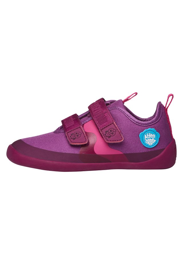 BARFUSSSCHUH VOGEL - Touch-strap shoes - berry