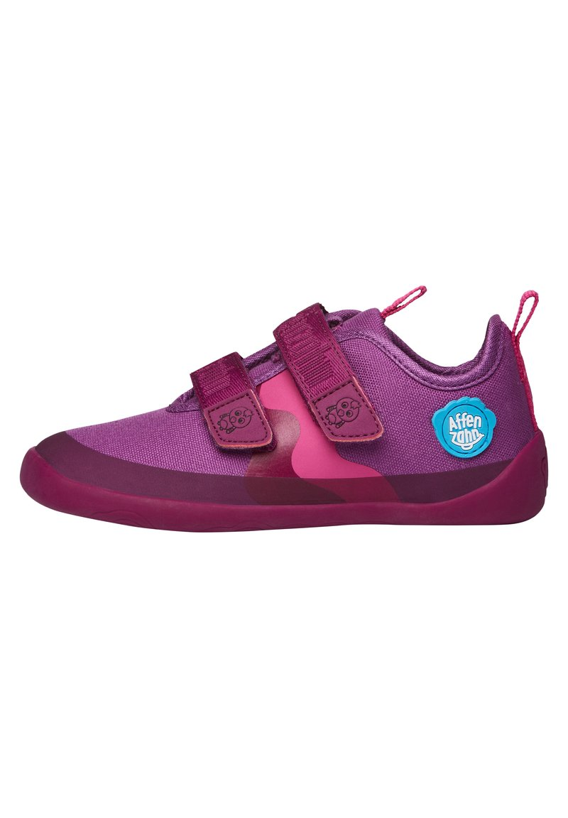 Affenzahn - BARFUSSSCHUH VOGEL - Touch-strap shoes - berry