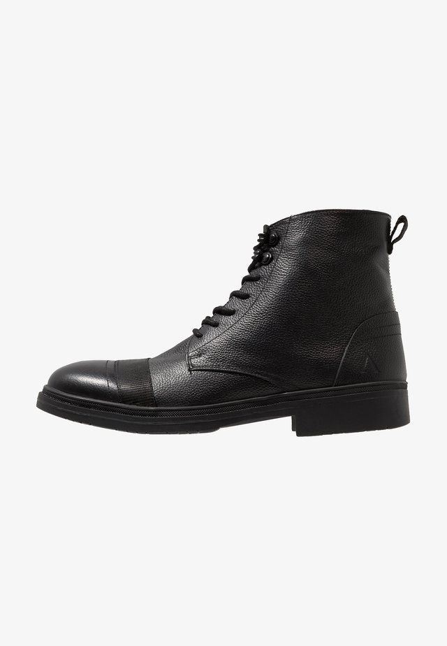 BUGLE - Lace-up ankle boots - black tumbled