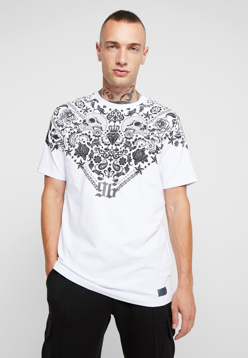 AFTERMATH - BANDANA TEE - T-shirt imprimé - white