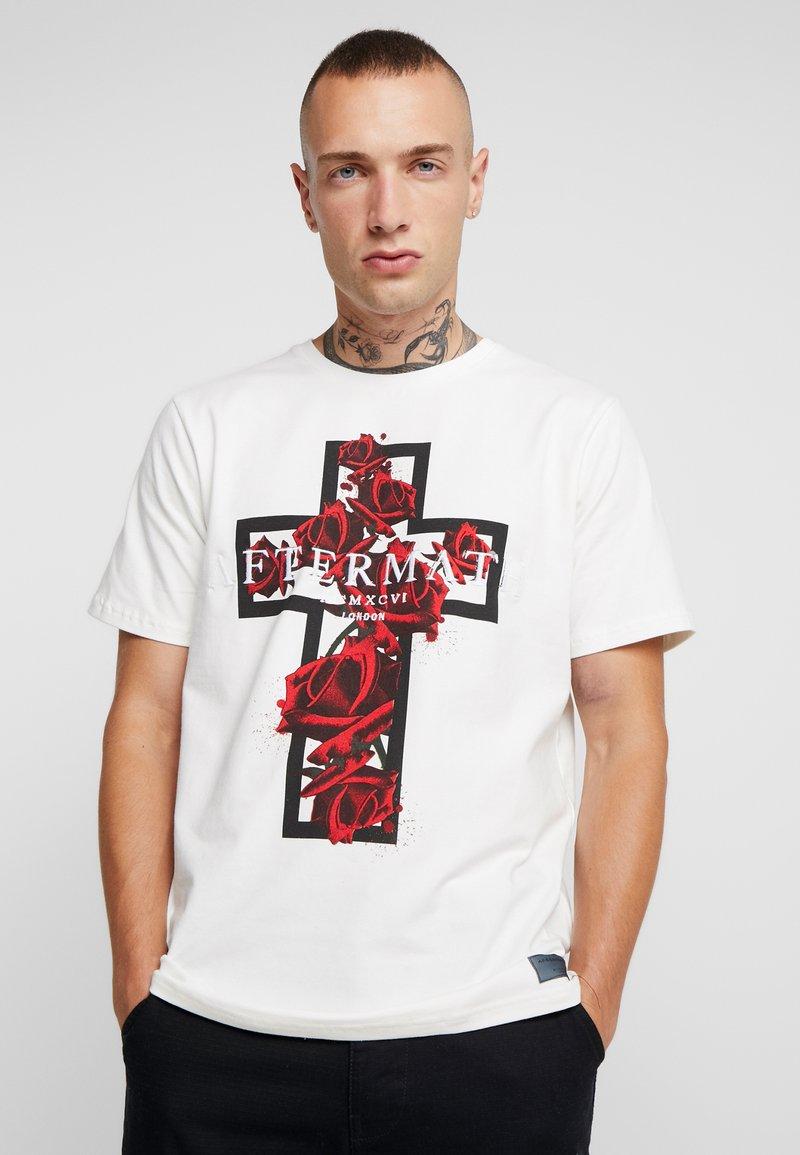 AFTERMATH - ROSADO TEE - Print T-shirt - ecru