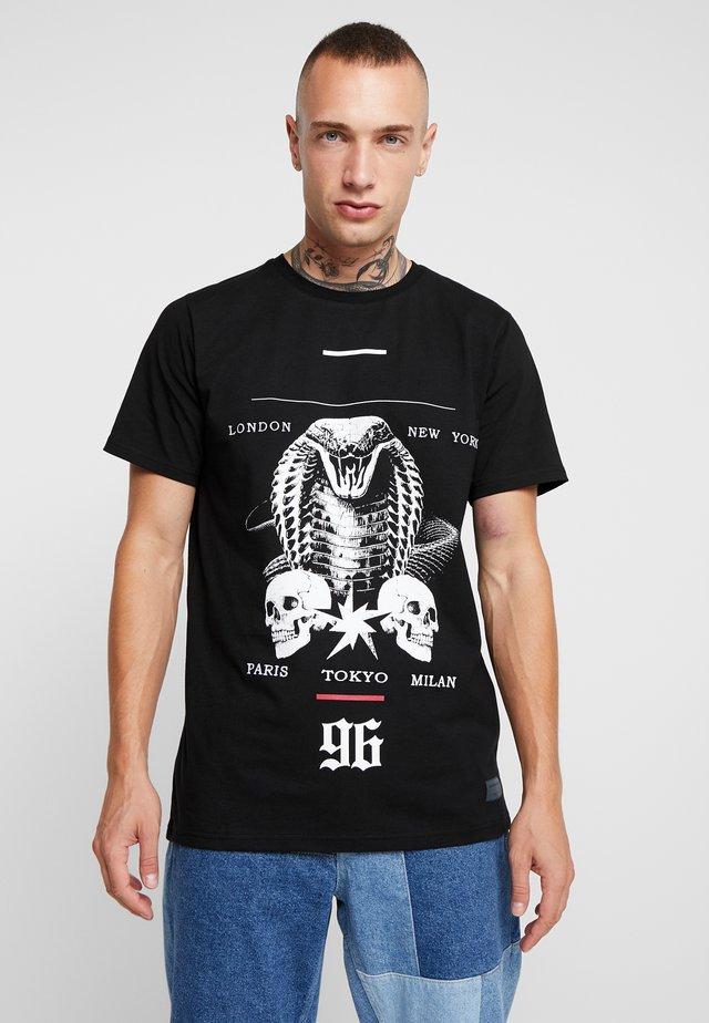 VIPER TEE - T-shirt z nadrukiem - black
