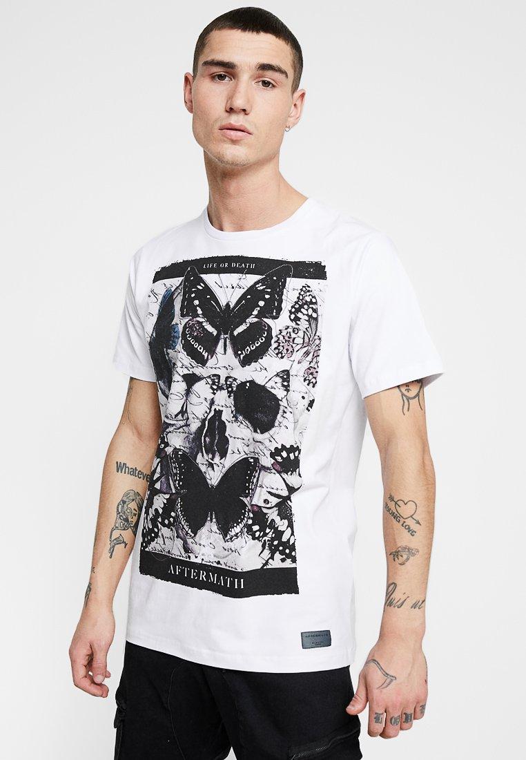 AFTERMATH - FLUTTER TEE - T-Shirt print - white