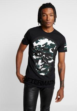 CAMO SKULL - T-shirt con stampa - black