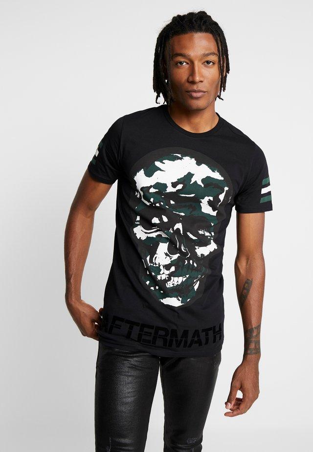 CAMO SKULL - T-Shirt print - black