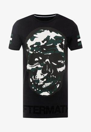 CAMO SKULL - Print T-shirt - black