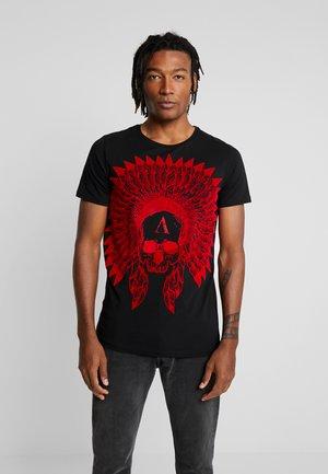 WITH SKULL PRINT - T-shirts med print - black