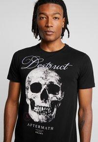 AFTERMATH - DESTRUCT SKULL PRINT - T-shirt con stampa - black - 4