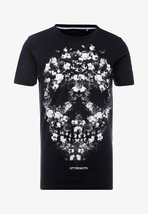 WITH FLORAL SKULL PRINT - T-Shirt print - black
