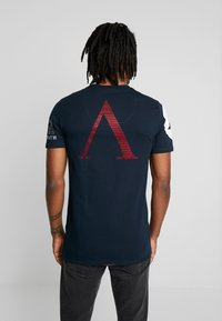 AFTERMATH - WITH USA PRINT  - T-shirt con stampa - navy - 2
