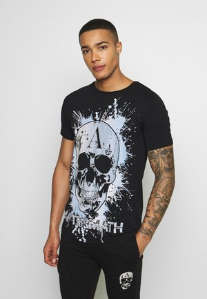 CRYSTAL STUDDED WITH GRAPHIC SKULL  - T-shirt con stampa - black
