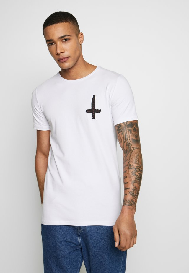 PAINTED CROSS - T-shirts print - white