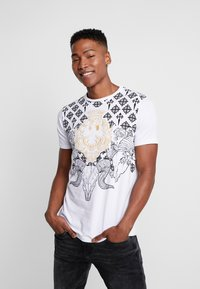 AFTERMATH - RAMSKULL - T-shirt med print - white - 0