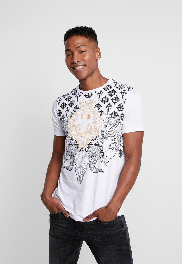 RAMSKULL - T-Shirt print - white